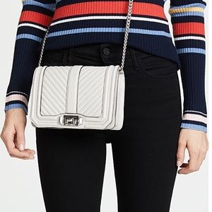 REBECCA MINKOFF chevron quilted love crossbody bag